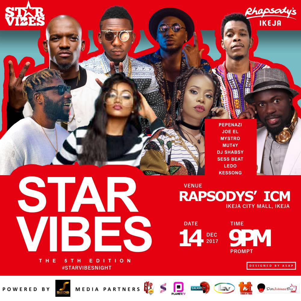 Joel, Pepenazi, Mystro, Dj Shabsy & more headlines the 5th Edition of StarVibes
