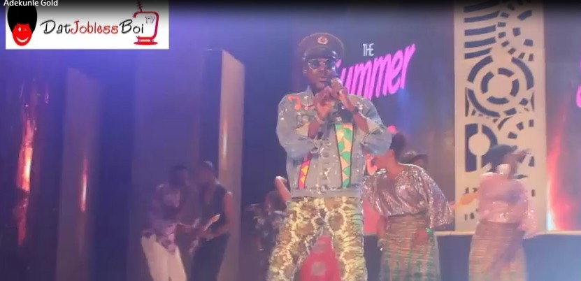 Adekunlegold performs PICKUP live with 79th.element band at the SummerVibesConcert