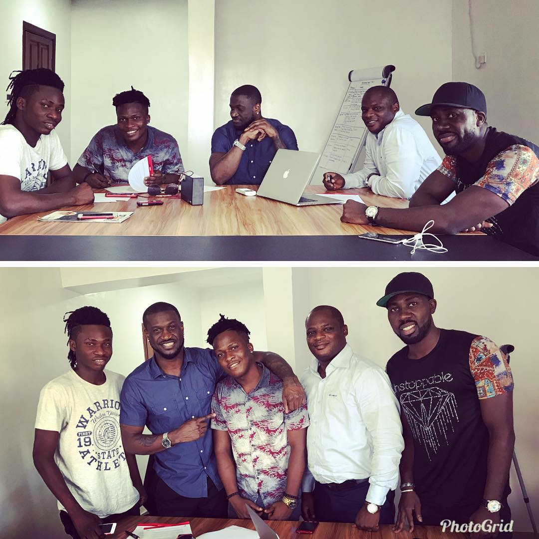 Peter Okoye Is Way Up As He Signs First Artist To His Record Label 'P Classic'