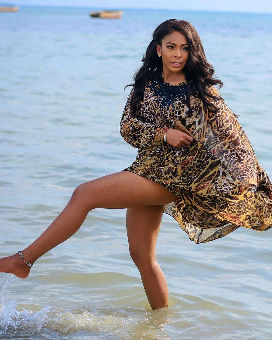 T Boss Puts Her Attractive Body On Display In New Beach Photos