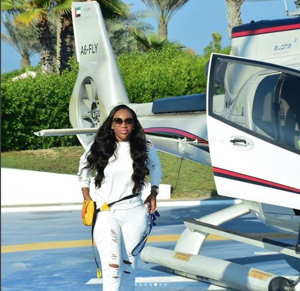 Ebube Nwagbo Enjoys Luxury Tour Around Dubai In A Helicopter | See Photos