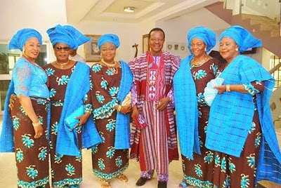 King Sunny Ade Steps Out In Style with all his five wives.
