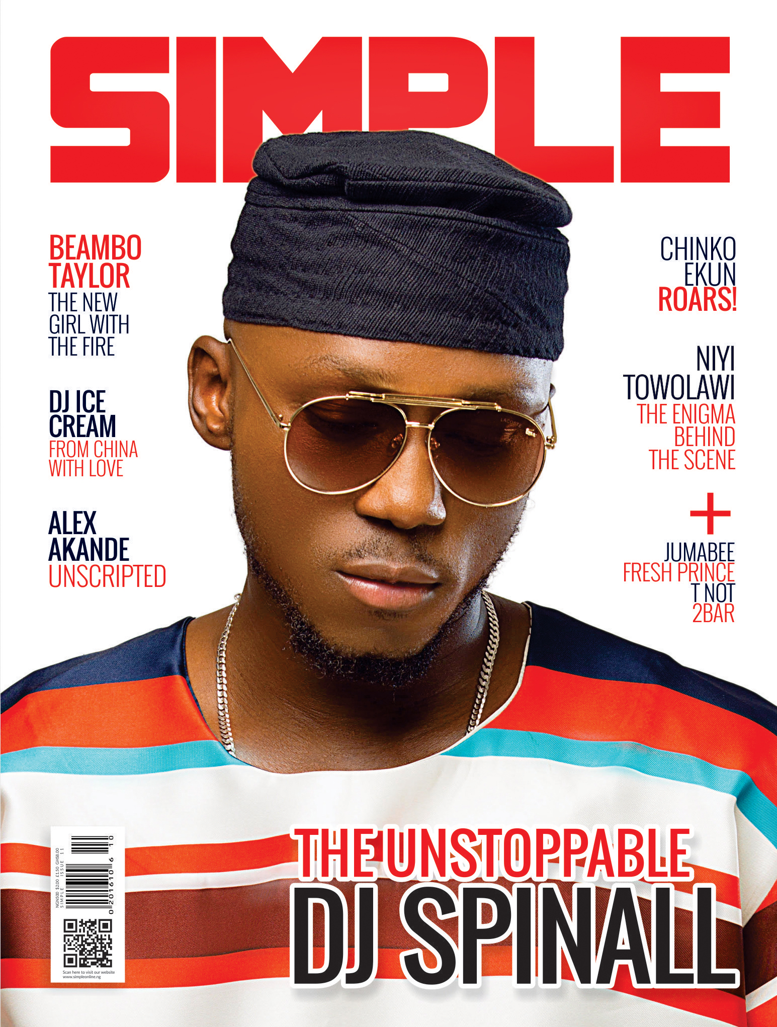 THE CAP!!! DJ SPINALL COVERS THE LATEST ISSUE OF SIMPLE MAGAZINE.