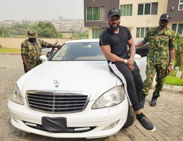 Harrysong acquires New Bulletproof Mercedes SE350