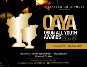 #OAYA2018: OSUN ALL YOUTH AWARDS || CHECK FULL NOMINEE LIST