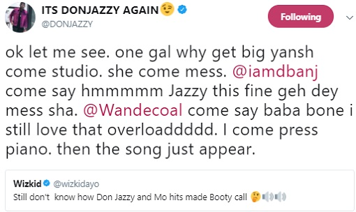 Wizkid Asked Don Jazzy For The Inspiration Behind 'Booty Call' And His Reply Is Hilarious