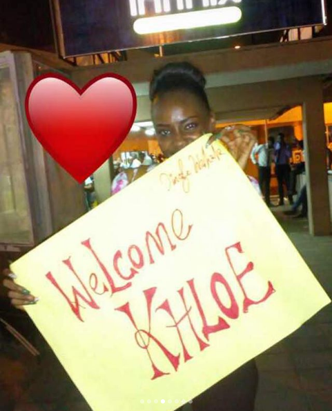 Watch How BB Naija's Ex-Housemate Khloe Was Welcomed On Her Arrival In Nigeria