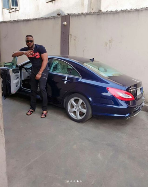 Nollywood Actor, Bolanle Ninalowo Looks Cool As He Poses With New Car