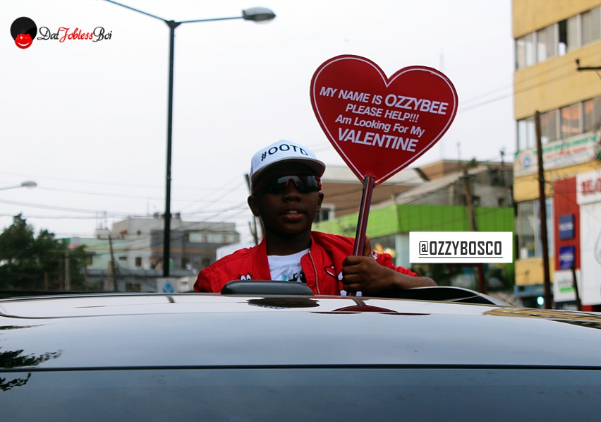Ozzy Bosco took to the streets of Lagos to find his Valentine & also to give back to the society.