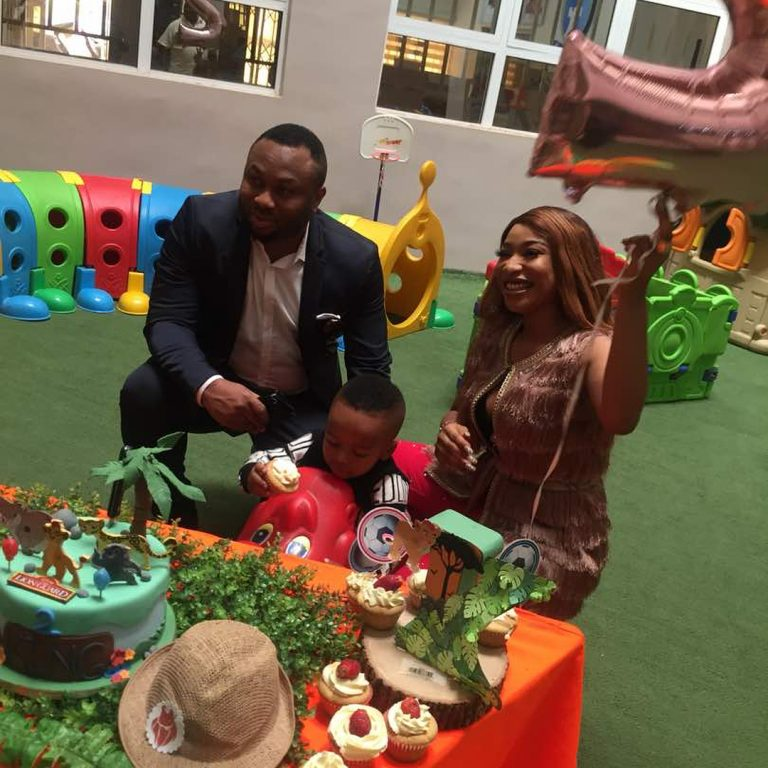 Tonto Dikeh And Ex-Husband Olakunle Churchill Bury The Hatchet To Celebrate Son's Birthday