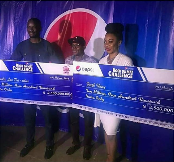 BB Naija 2018 Ex-Housemates Leo And Ifu Ennada Cash Their 5 Million Naira Pepsi Challenge Win