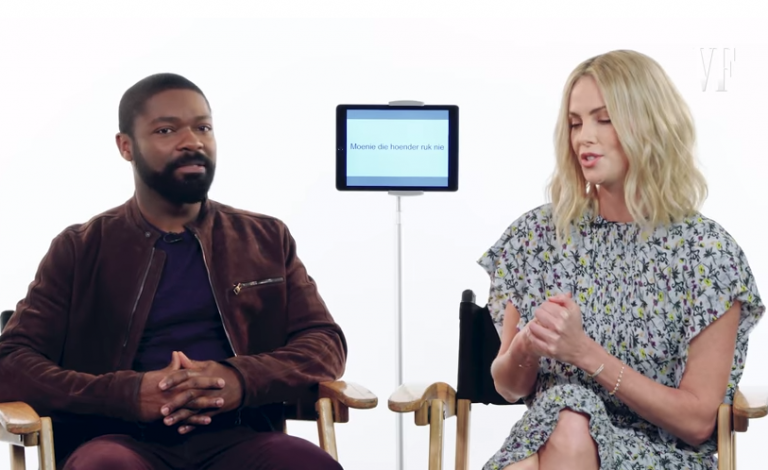 Insightful Video Of Hollywood Actors David Oyelowo And Charlize Theron Teaching 'Yoruba' And 'Afrikaans' Slang
