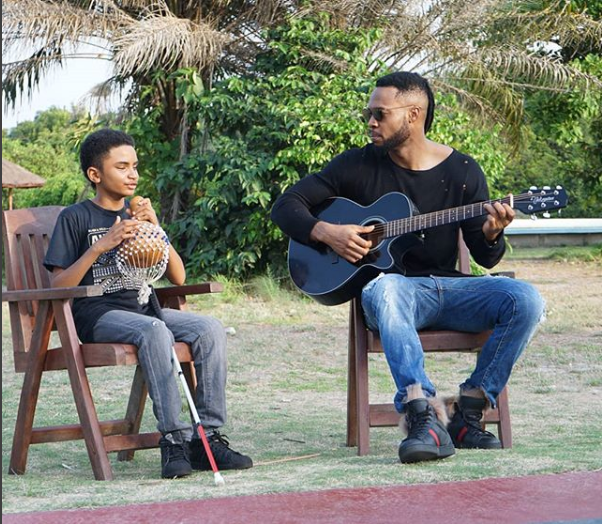 These New Photos Of Flavour With Blind Liberian Boy Semah Is Very Touching