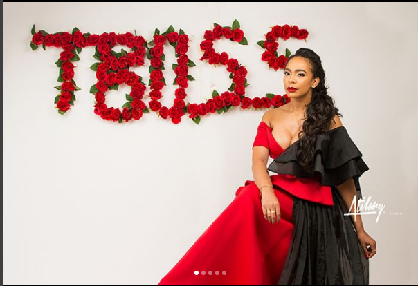 Exquisite Photos Of TBoss In Red As She Turns A Year Older