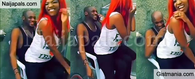 Annie Idibia Gives Her Husband, 2face a Hot Lap Dance To Keep Away Young Girls (Video)