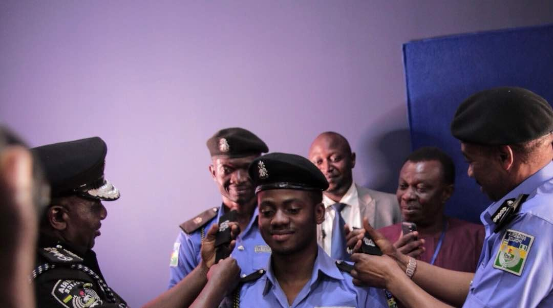 Mavin's star Korede Bello decorated with the honorary title of Superintendent of Police.