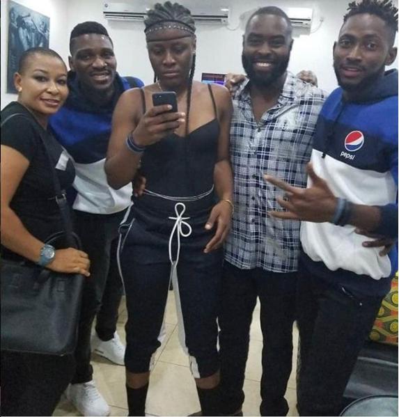 Massive Crowd Recieve BB Naija 2018 Winner Miracle And Others At Airport