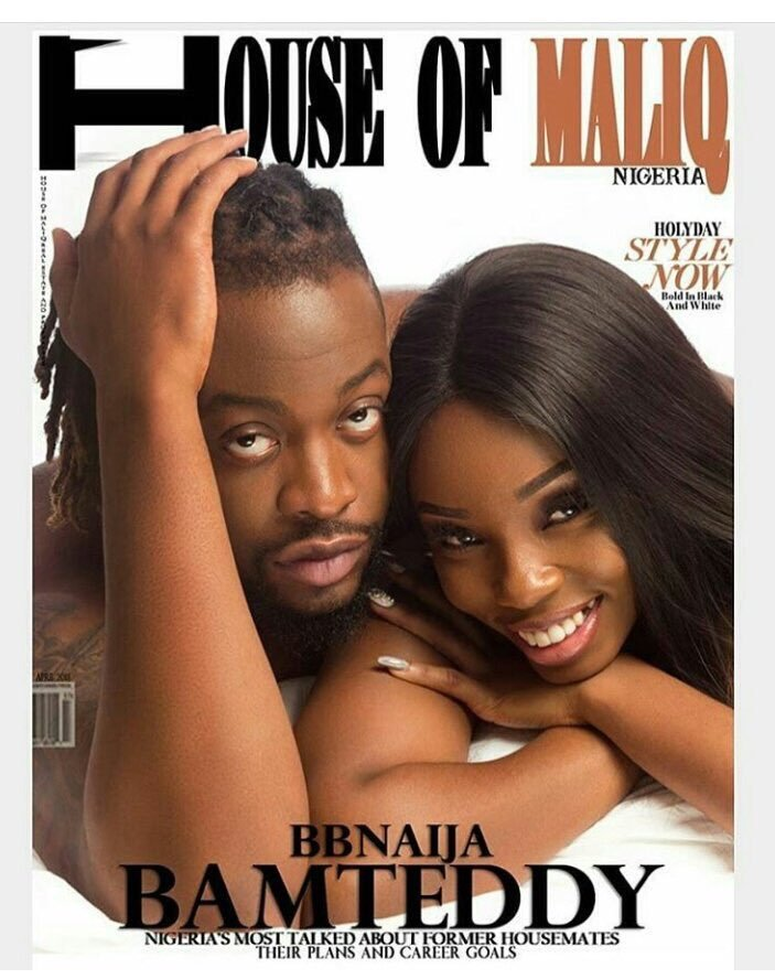 BB Naija 2018 Ex-Housemates Bambam And Teddy A Look Cozy On The Cover Of House Of Maliq Magazine