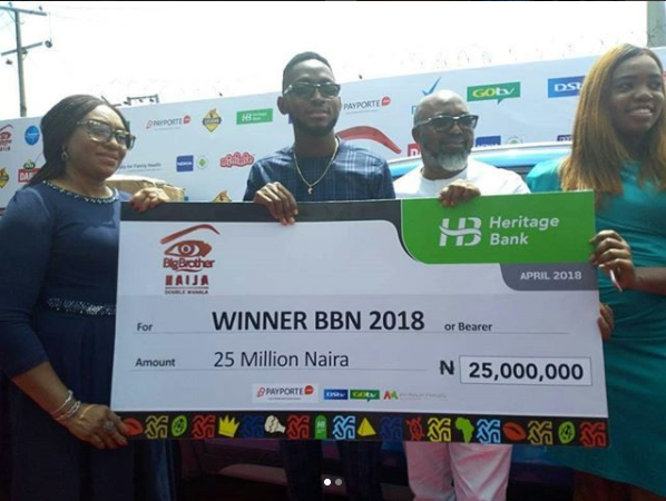 BB Naija 2018 Winner Miracle Receives His 25 Million Naira Cash Prize And More