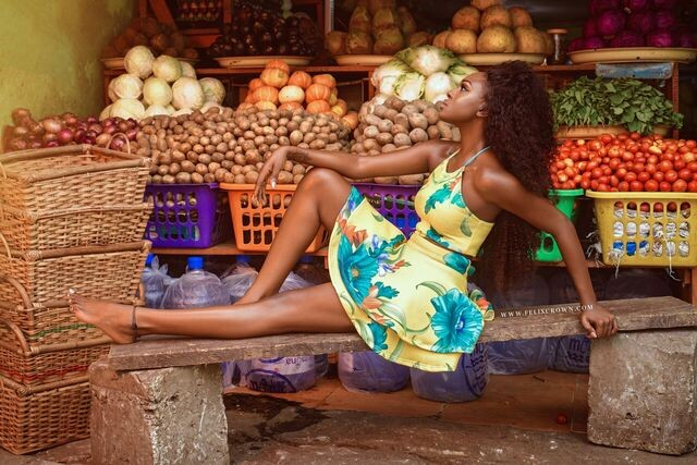 Big Brother Africa Former Housemate Beverly Osu Looks Natural In A Market Stall In Latest Photos