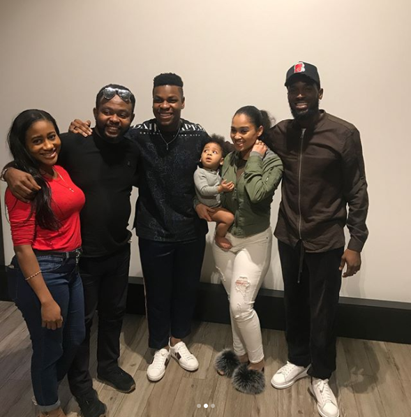 Lovely Photos Of D'banj And His Family With Hollywood Actor John Boyega