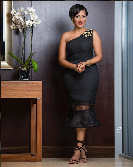 Lovely Photos Of Ghanaian Actress Juliet Ibrahim In Black As She Hosts Ghana Makeup Awards