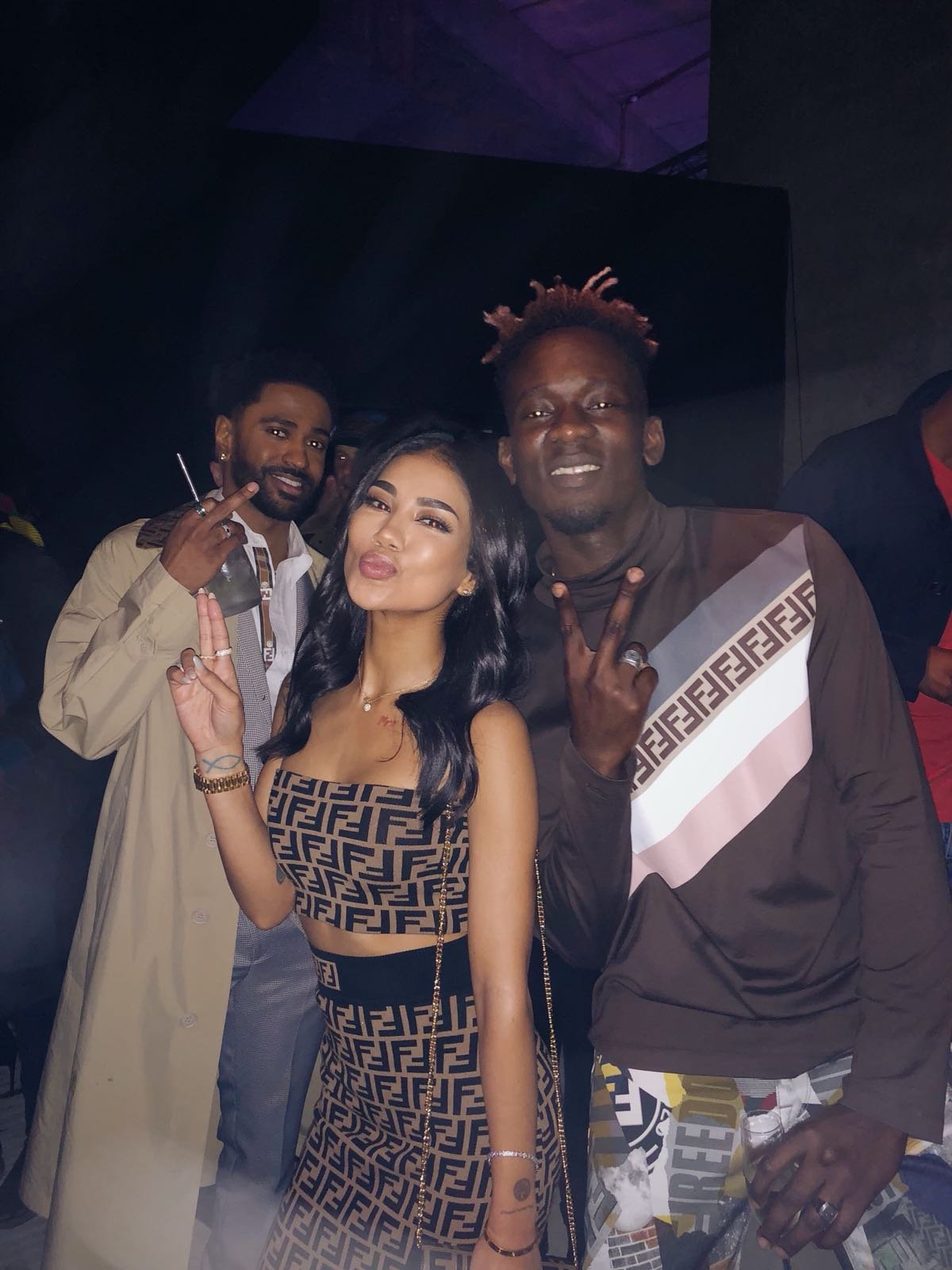 Mr Eazi Attends Fendi Party With Jhene Aiko And Big Sean