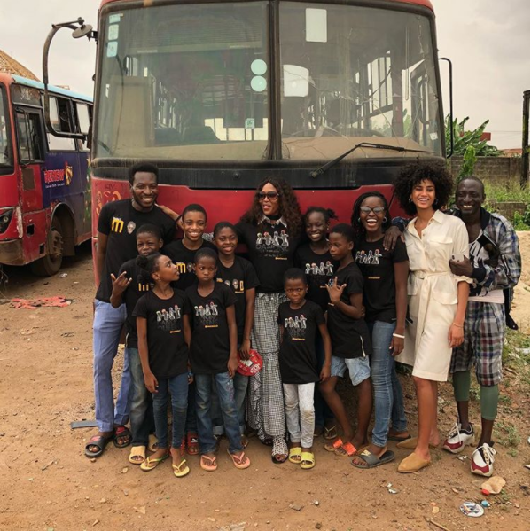 British Supermodel Naomi Campbell Spends Her Easter With Ikorudu Dance Crew