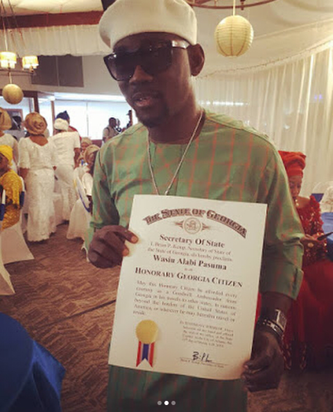 Fuji Musician Pasuma Gets Honoured In The US As A Citizen