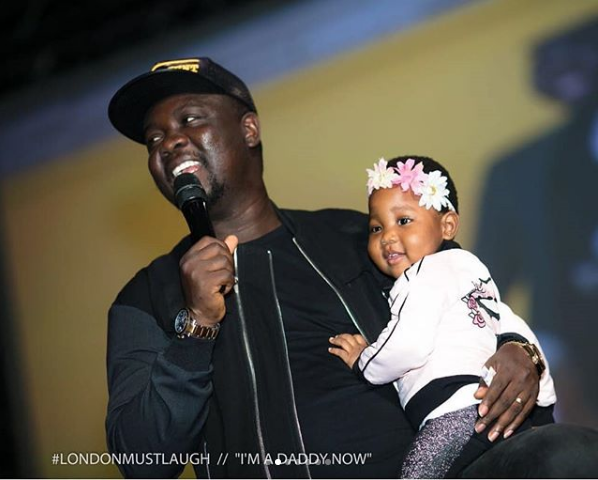 Comedian Seyi Law Is A Devoting Father As He Brings Daughter On Stage During His Show