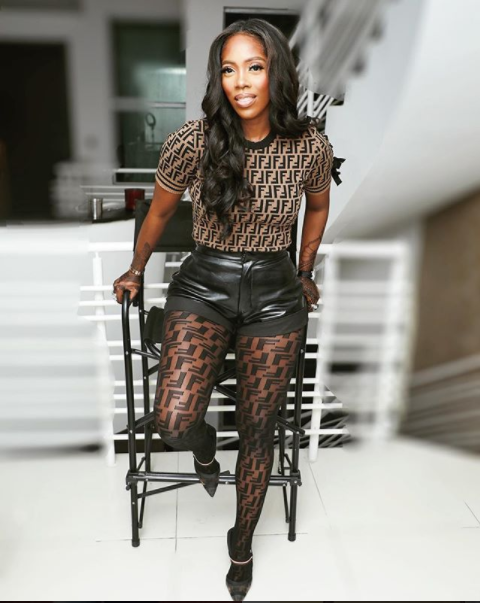 Tiwa Savage Shows Her Love For High Fashion Brands Again As She Steps Out In Fendi