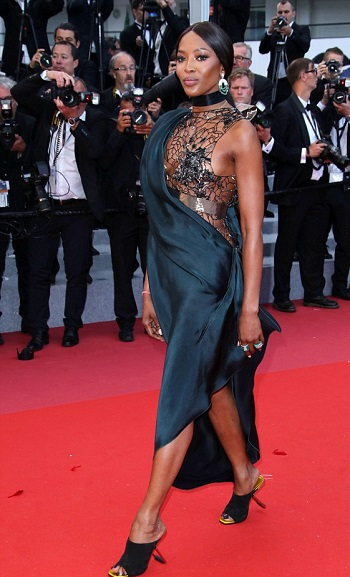 Naomi Campbell Braless At Cannes Film Festival