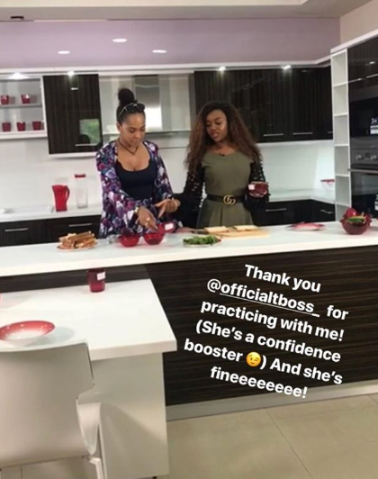 Davido Girlfriend Chioma Looks Natural As She Begins Shooting Episodes For Her Cooking Show