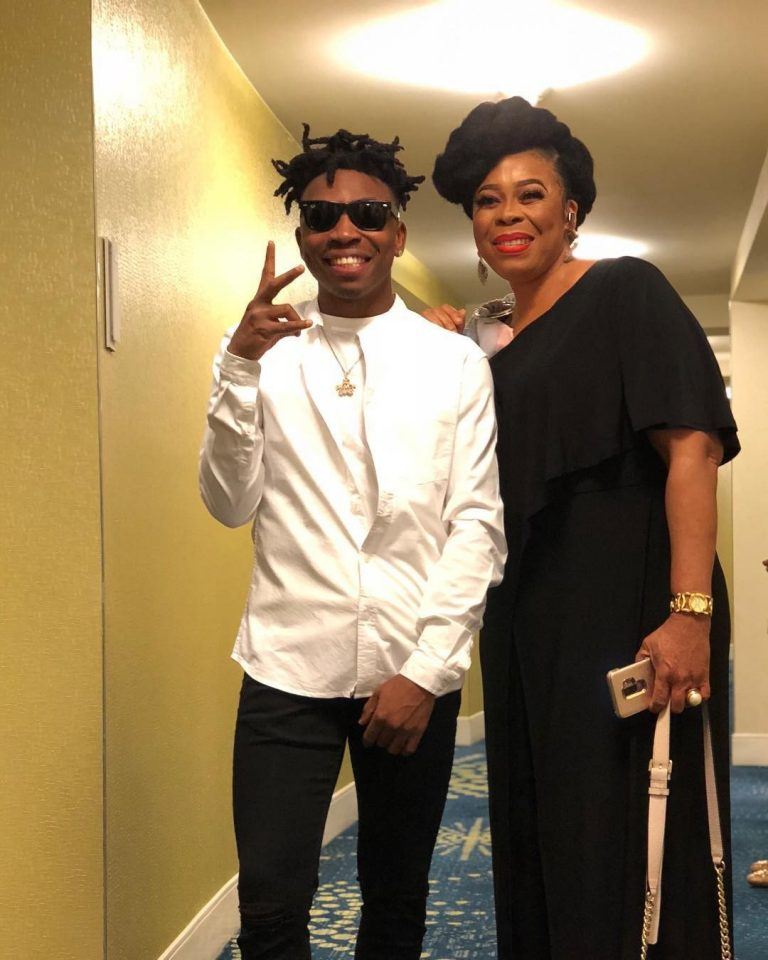 Mayorkun And His Actress Mother, Toyin Adewale Share A Lovely Reunion In The US