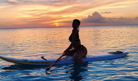 Kylie Jenner Straddles Paddleboard In A Bikini, As Her Social Media Posts Are Valued At $1m