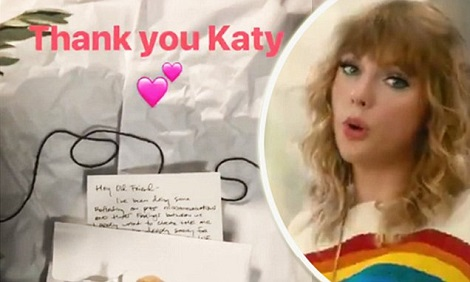 Taylor Swift Posts APOLOGY Letter From Katy Perry