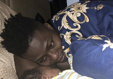 Cute Photo Of Reekado Banks & His Brother's Son