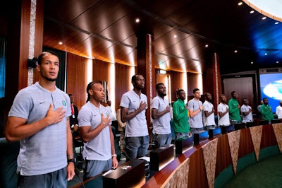 Photos: Super Eagles Players Meet President Buhari