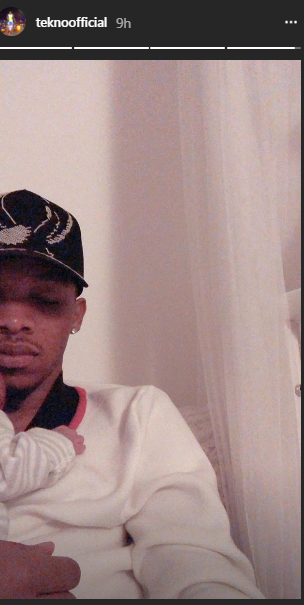 Heartwarming Moment As Tekno Shares Adorable Photo Cuddling His Baby Daughter