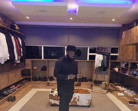 Timaya Shows Off His Walk-In Closet