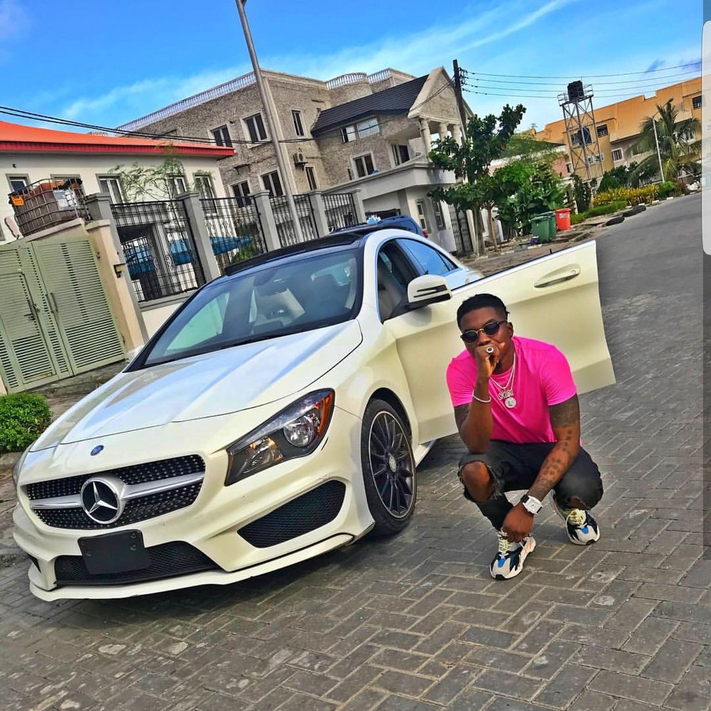 Music Artiste Skiibii Has Joined The Benz Gang As He Shows Off His New Car