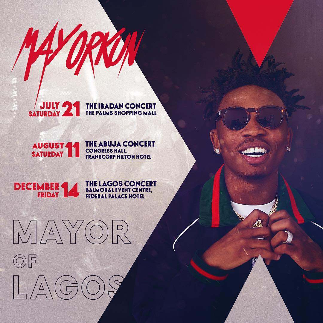 "DMW Star Mayorkun Unveils plan To stage ""Mayor of Lagos"" Concerts in Ibadan, Abuja & Lagos This Year"