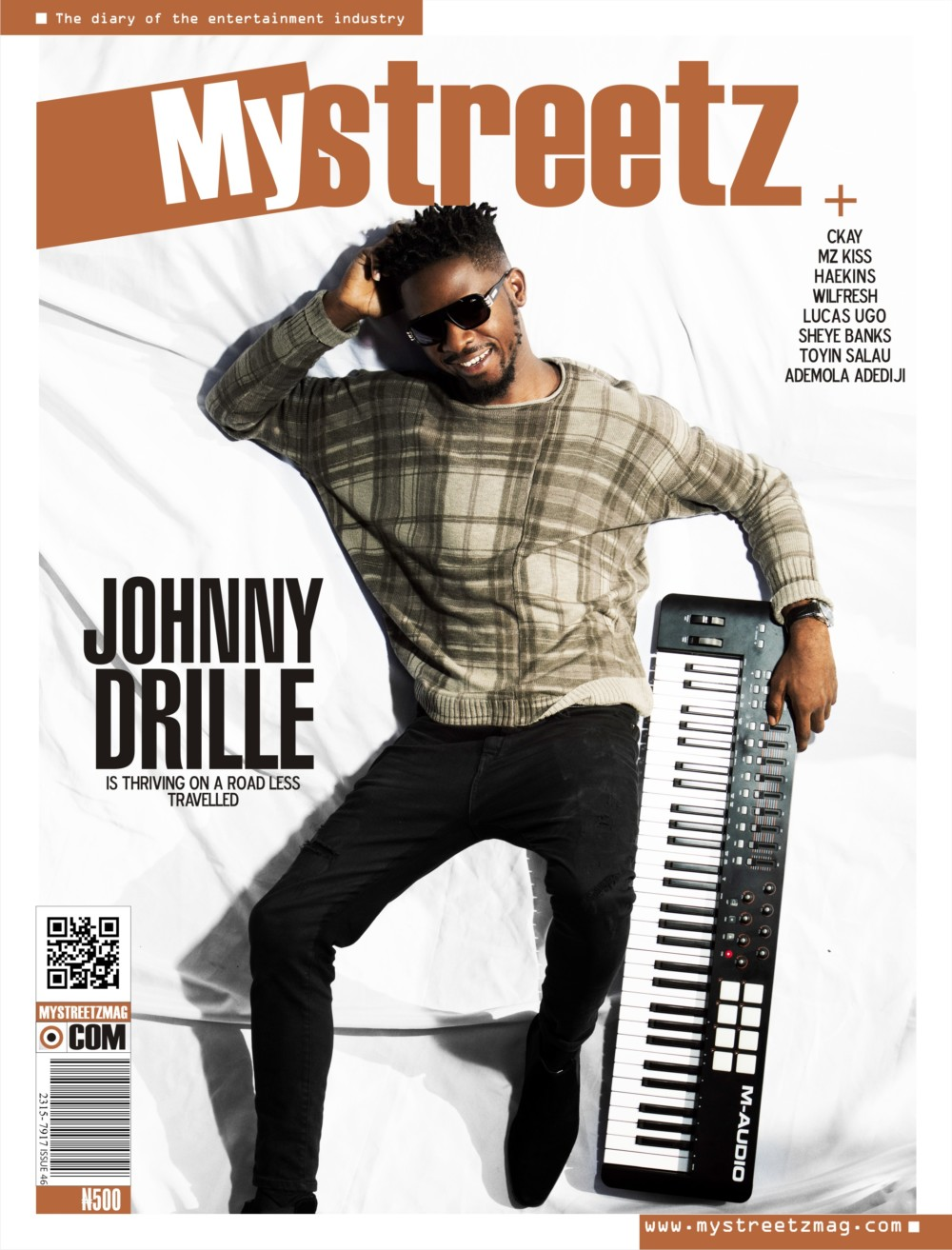 Johnny Drille covers latest issue of MyStreetz magazine