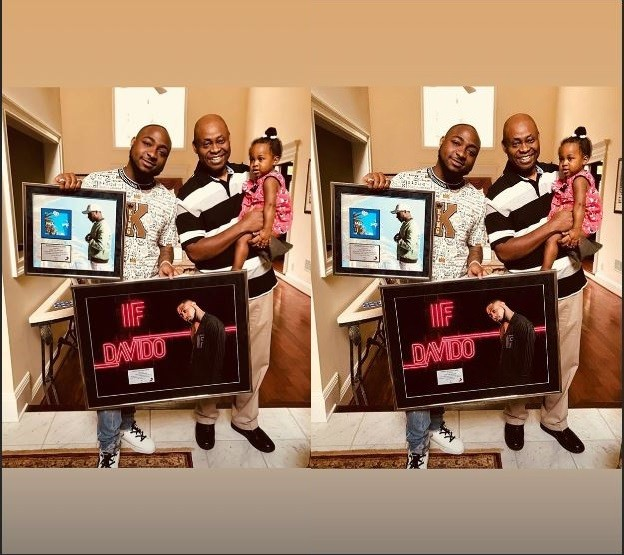 This Lovely Photo Of Davido, His father And Daughter Hailey Will Give You Family Goals