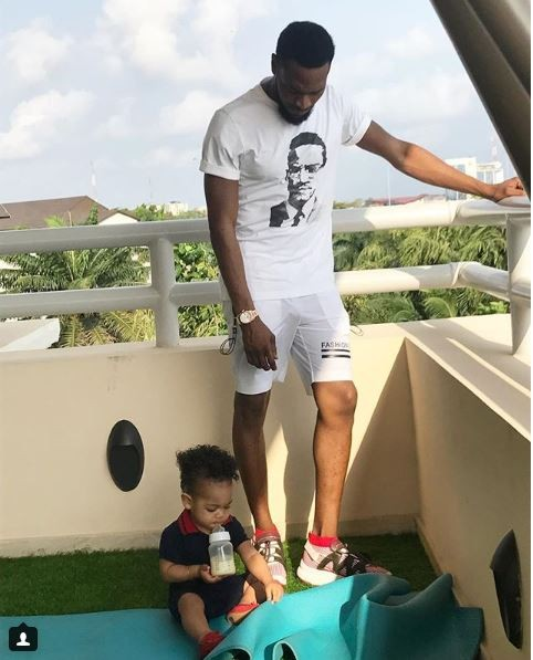 D'banj And His Son Have Cute Moments Together And These Photo Prove It