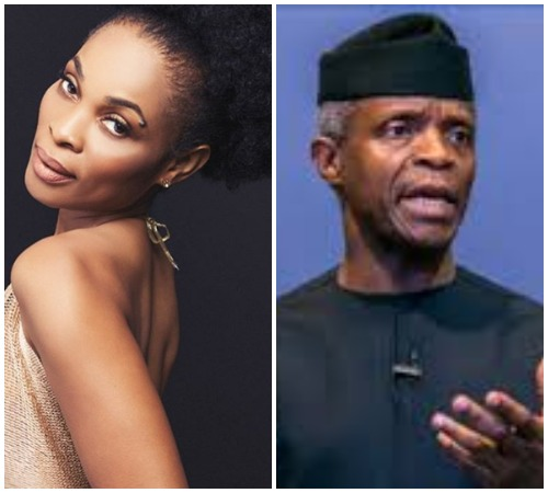 Actress Georgina Onuoha Slams Vice President Yemi Osinbajo Wondering If He Is Truly A Man Of God