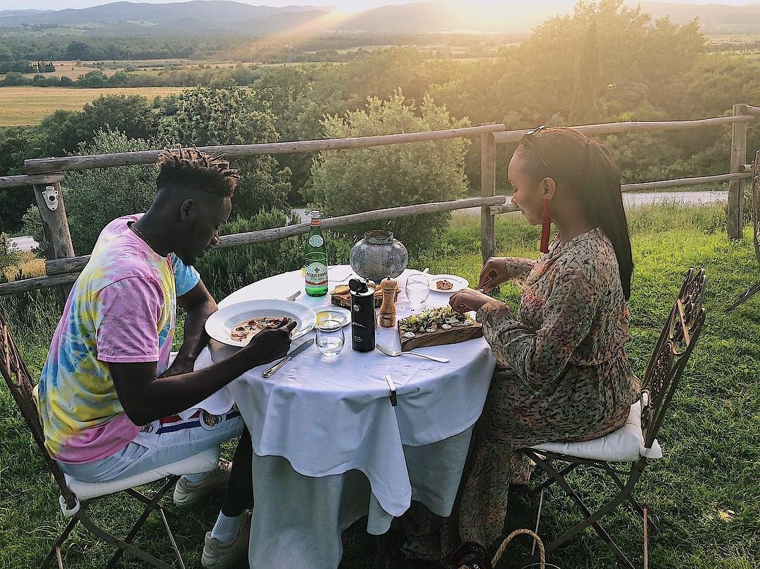 Mr. Eazi And Temi Otedola Take Special Time Out As They Travel For A Getaway To Italy