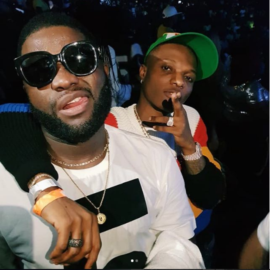 Wizkid And Skales Are Going Back To How Things Were As They Hang Out Together During One Africa Music Fest