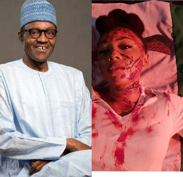 BB Naija's Ifu Ennada Sends Bloodied Message To President Buhari Over Herdsmen Killings