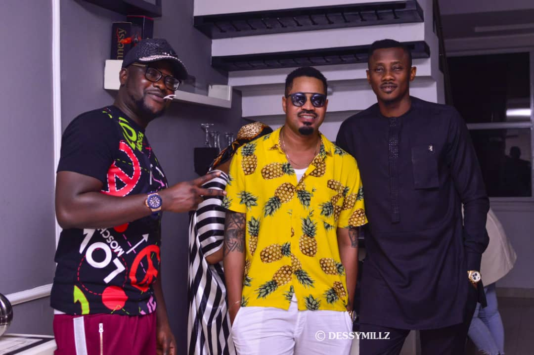 Pepenazi , Sheyman ,Sexysteel & more attends Phlex's birthday Party.